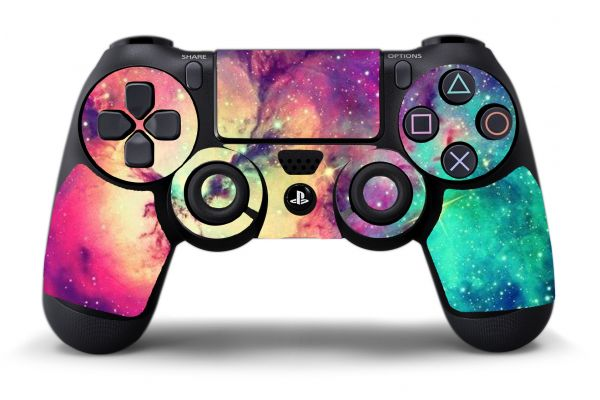 Sticker galaxy pour manette de PS4