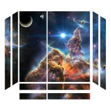 Sticker skin Galaxy pour PS4