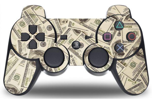Autocollant Dollar pour manette PS3