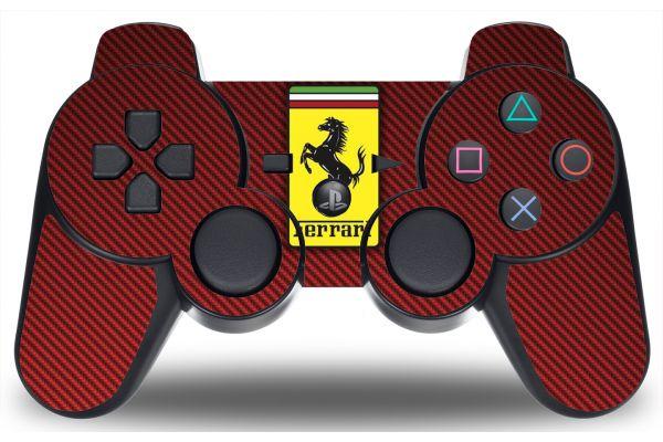 Sticker Ferrari pour manette PS3