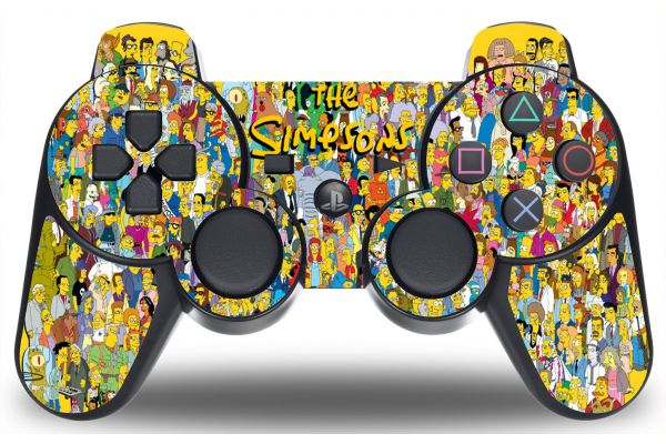 Sticker manette PS3 Simpson