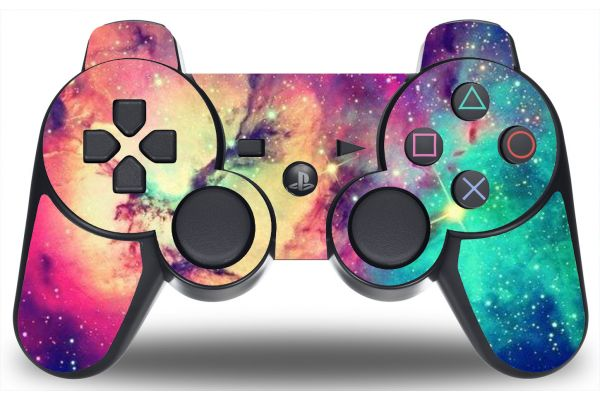Sticker galaxy pour manette de PS3