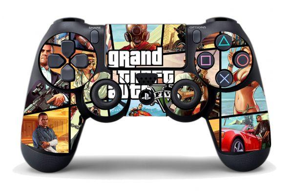 Autocollant GTAV pour manette PS4