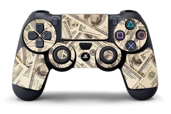 Autocollant DOLLARS pour manettes PS4