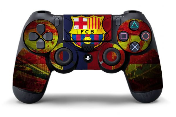 Sticker FC Barcelone pour manette de PS4